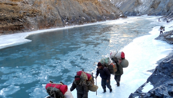 Ice trek on the Zanskar river