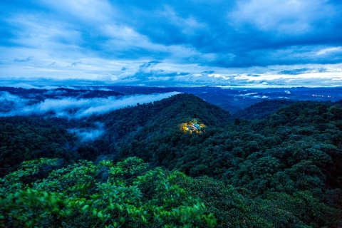A rain forest hotel in the clouds