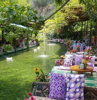 An idyllic and beautiful place to stay and eat near Saklikent National Park in Turkey