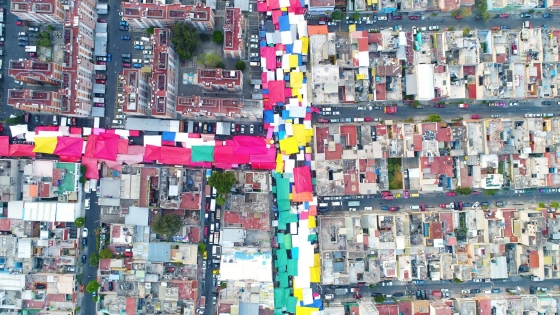 Bustling and colorful Mexico City
