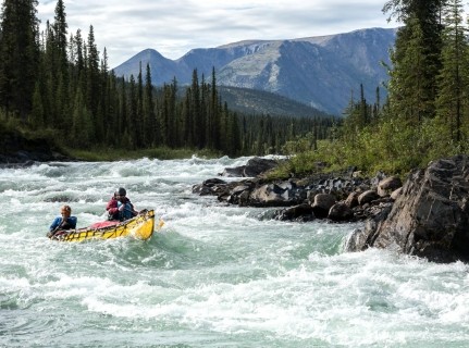Canoeing the south Nahanni
