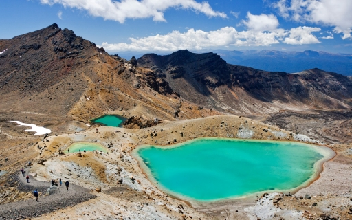 The Tongariro Crossing in New Zealand